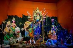 Красочные идолы Durga Puja, Kolkata, стоковая фотография rf