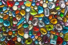 Красочные и фантастические стеклянные камни стоковые изображения