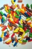 Красочные и яркие формы на белой предпосылке Стоковая Фотография RF