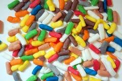 Красочные и яркие формы на белой предпосылке Стоковое фото RF