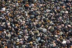 Красочные камешки моря, можно использовать как предпосылка, Стоковая Фотография RF