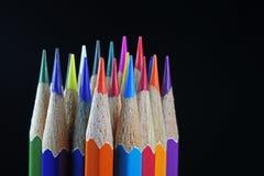Красочные канцелярские принадлежности для рисовать и красить Стоковое фото RF