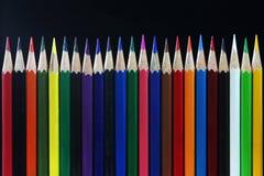 Красочные канцелярские принадлежности для рисовать и красить Стоковое Фото