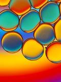 Красочные капельки масла стоковое изображение