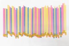Красочные карандаши на белизне Стоковые Изображения