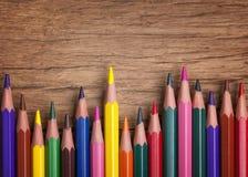 Красочные карандаши Стоковые Фото