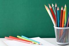 Красочные карандаши стоковая фотография rf