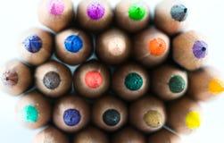 Красочные карандаши стоковое изображение