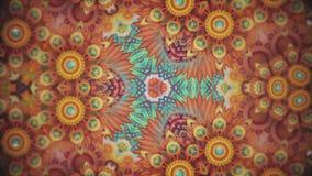 Красочные картины последовательности калейдоскопа Абстрактная пестротканая предпосылка графиков движения Красивый яркий орнамент иллюстрация штока