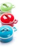 Красочные кастрюльки Стоковое Изображение RF