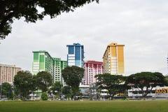 Красочные квартиры HDB в центре Rochor Стоковое Изображение RF