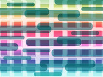 Красочные квадраты середин предпосылки форм и Oblongs Стоковая Фотография RF