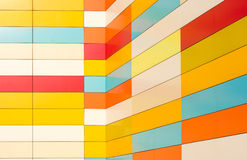 Красочные керамические плитки на стене Стоковые Фото