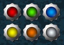 Красочные кнопки звезды иллюстрация штока