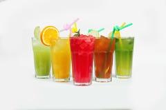 Красочные коктеили лета Стоковое Изображение