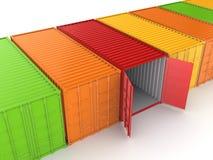 Красочные контейнеры. Стоковое фото RF