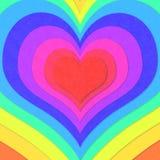Красочные концентрические сердца Стоковые Изображения RF