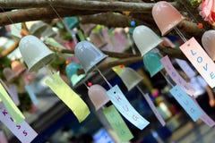 Красочные колоколы с романтичными надписями Стоковое Изображение RF