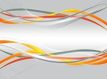 Красочные кривые на серой предпосылке Стоковые Изображения