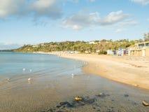 Красочные купая коробки в Mornington на полуострове Mornington Стоковая Фотография RF