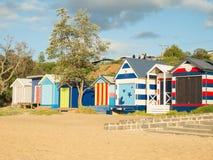 Красочные купая коробки в Mornington на полуострове Mornington Стоковое Фото