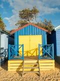 Красочные купая коробки в Mornington на полуострове Mornington Стоковое Изображение