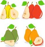 Красочные куски яблок, собрание иллюстраций Стоковая Фотография