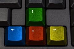 Красочные клавиши на клавиатуре игры Стоковые Фотографии RF