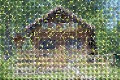 Красочные линии головоломки и формы картина, предпосылка Стоковая Фотография