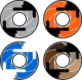 Красочные логотипы камеры с руками - иллюстрацией бесплатная иллюстрация