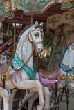 Красочные лошади Carousel в празднике паркуют, Весел-идти-круглая лошадь Стоковое фото RF