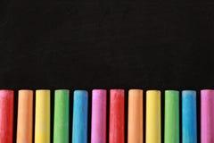 Красочные мел и классн классный Стоковые Фотографии RF