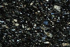 Красочные микро- кристаллы утеса в поляризовыванном свете стоковое фото