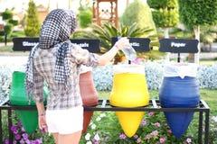 Красочные мусорные корзины Стоковое фото RF
