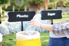 Красочные мусорные корзины Стоковое Изображение RF
