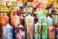 Красочные надушенные свечи Стоковые Изображения RF