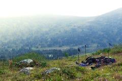 Красочные нежные холмы стоковая фотография rf