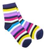 Красочные носки хлопка Стоковые Изображения