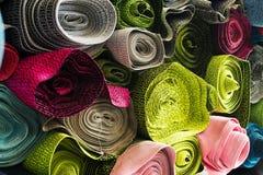 Красочные образцы ткани стоковое изображение rf