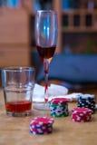 Красочные обломоки для играть в азартные игры Стоковые Изображения