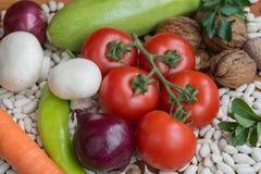Красочные овощи, смешивание пищевого ингредиента Стоковое фото RF