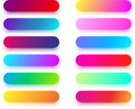 Красочные округленные шаблоны значка изолированные на белизне Стоковая Фотография RF