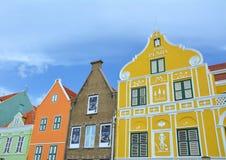 Красочные дома в Виллемстад Стоковое фото RF