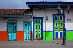 Красочные дома в Salento Стоковая Фотография