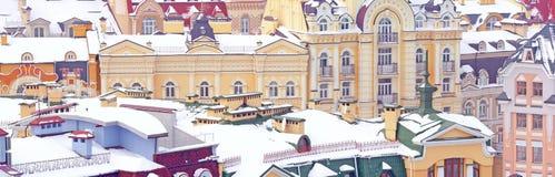 красочные дома и крыши Стоковое Фото