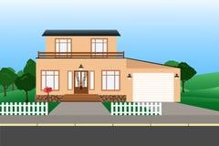 Красочные дома коттеджа Стоковое Изображение RF