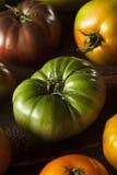 Красочные органические томаты Heirloom Стоковое Изображение