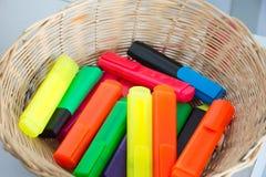 Красочные отметки в корзине Стоковая Фотография RF