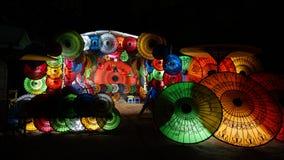 Красочные парасоли в Мьянме стоковое изображение