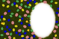 Красочные пасхальные яйца с символом яйца иллюстрация штока